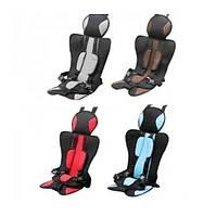Дитяче автомобільне безкаркасне крісло чохол бустер Child car seat(черв,синій,коичн,сірий)