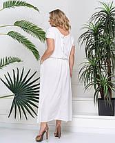 Белое летнее женское платье в пол с 50 по 58 размер, фото 3