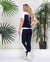 Женский модный летний костюм в спортивном  стиле в 3-х расцветках  с 48 по 54 размер, фото 3