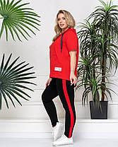 Спортивный яркий летний женский костюм больших размеров с 48 по 58, фото 2