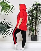 Спортивный яркий летний женский костюм больших размеров с 48 по 58, фото 3