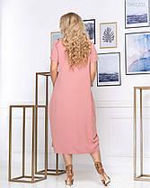 Платье Картиньи - 1 (терракотовый) 0801202, фото 3