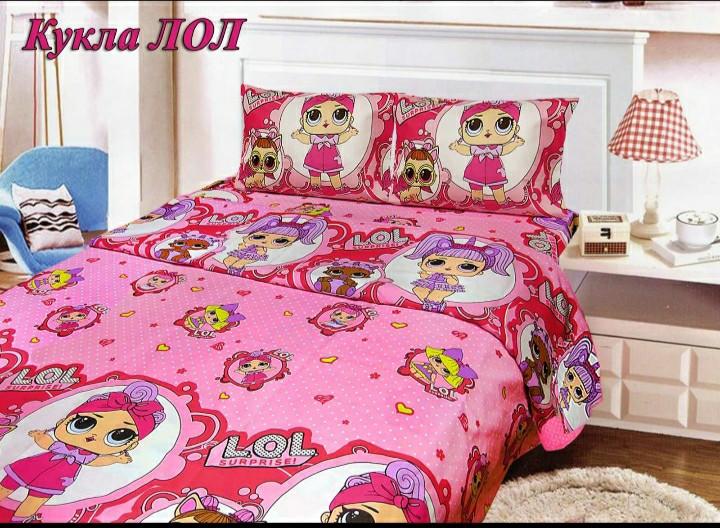 Комплект детского постельного белья Лол, Бязь Люкс, полуторный, Тиротекс, розовый