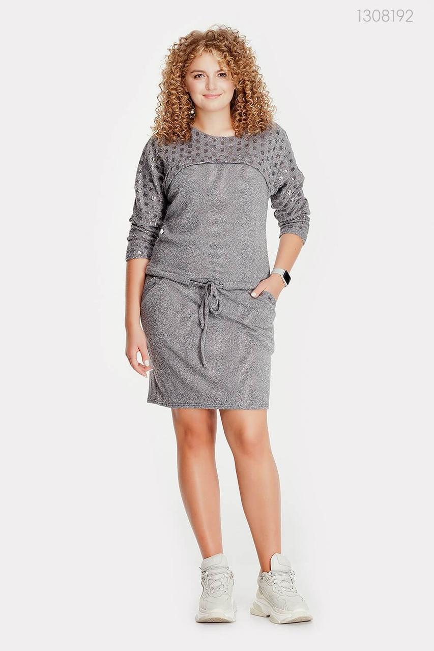 Платье Астория (серый) 1308192
