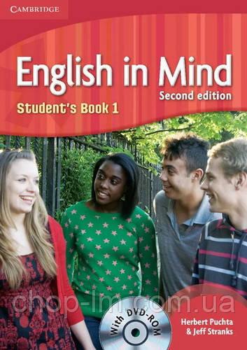 Учебник English in Mind (2nd Edition) 1 Students Book with DVD-ROM / Cambridge. Автор: Herbert Puchta