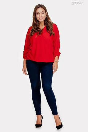 Блузка Анталия (красный) 2906191, фото 2