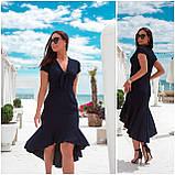 Романтичное летнее платье с ассиметричным кроем, разные цвета, р.48-50,52-54 Код 298V, фото 2
