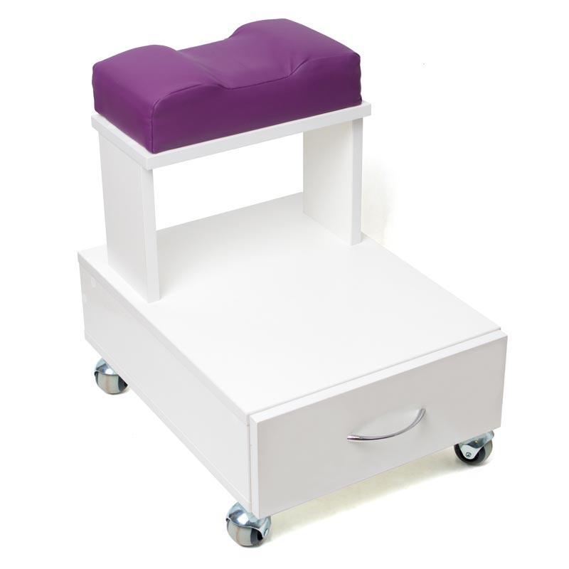 Педикюрная тумба візок для педикюру пуф підставка для ніг, висувний ящик, полиця для манікюрної витяжки
