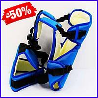Рюкзак кенгуру №12 для новорожденных, рюкзак переноска для детей слинг, сумка для малыша кенгуру синий