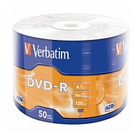 Диск 50 шт. DVD-R 4.7GB Verbatim Box