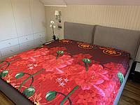 Атласное летнее одеяло покрывало двуспальное, 175/205