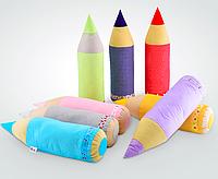 Детская подушка карандаш-валик, 58х15см разные цвета
