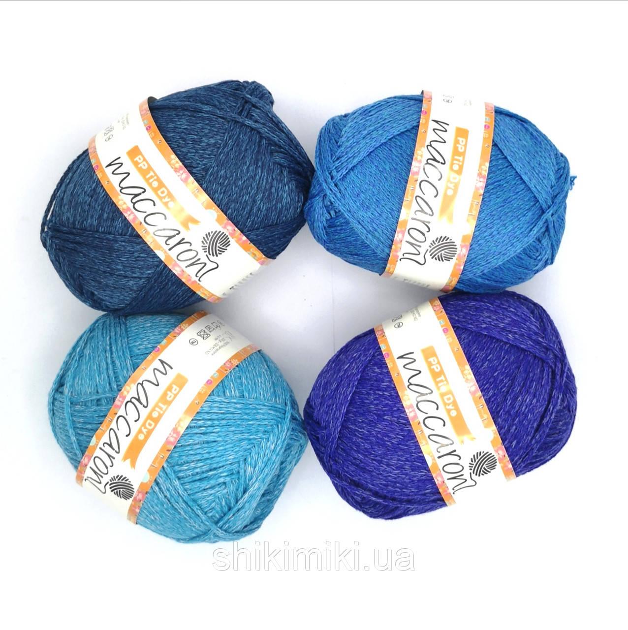 Трикотажный шнур PP Tie Dye, цвет Лазурный