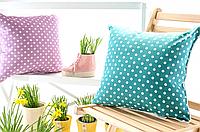Декоративная подушка думка горошек 43х43 в ассортименте