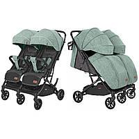 Коляска прогулочная для двойни/близнецов CARRELLO Presto Duo CRL-5506 Tea Green +дождевики