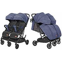 Коляска прогулочная для двойни/близнецов CARRELLO Presto Duo CRL-5506 Oxford Blue +дождевики