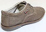 Туфлі чоловічі на шнурках літні шкіряні (нубук) від виробника модель ГЛ20, фото 7