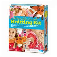 Детский игровой набор для творчества от 8 лет 4M Комплект для вязания Шарф (00-04722)