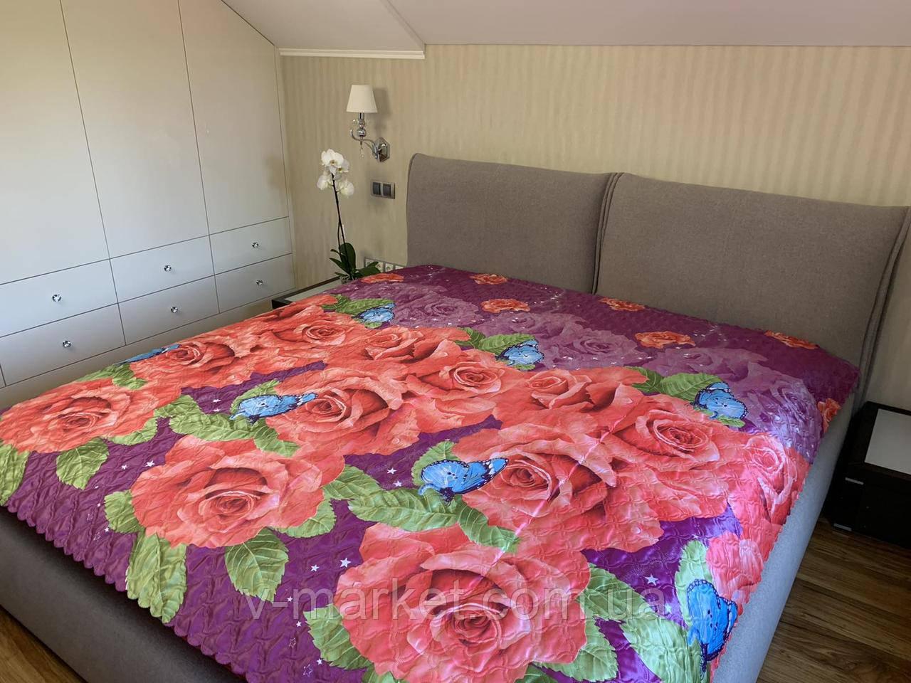 Атласное летнее одеяло покрывало евро размер, 195/205