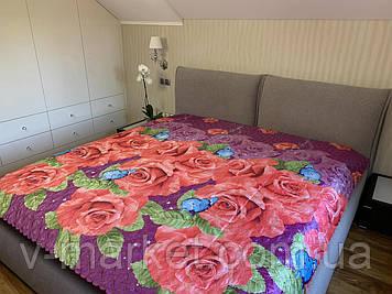 Атласне літній ковдру покривало євро розмір, 195/205