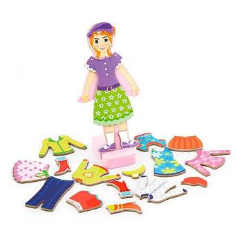 Игровой набор Viga Toys Гардероб девочки на магнитах (59652)