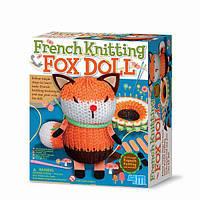Детский игровой набор для творчества 4M Французское вязание Лиса (00-04682)