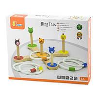 Игрушка для малышей от 3 лет Viga Toys Брось кольцо (50174)