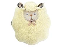 Декоративная меховая подушка-игрушка Овечка 40х45см