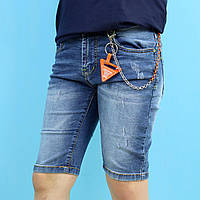 1056 Джинсовые шорты для мальчика с брелком тм S&D размер 4,6,8,10,12