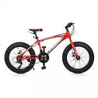 "KMS20.4 Велосипед 20 д. EB20POWER 1.0  сталь.рама 13"",Shimano 18SP,алюм.DB,алюм.обод, 20""*4.0,кра"