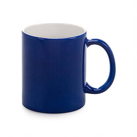 Чашка для сублимации хамелеон ПОЛУГЛЯНЕЦ 330 мл (синий)