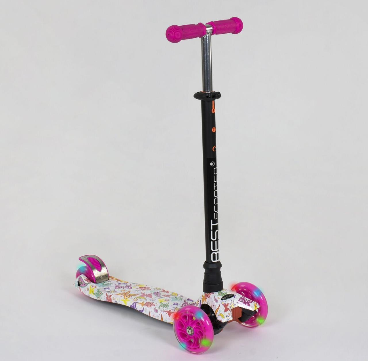 779-1336 Самокат Best Scooter MAXI Бабочки для девочки
