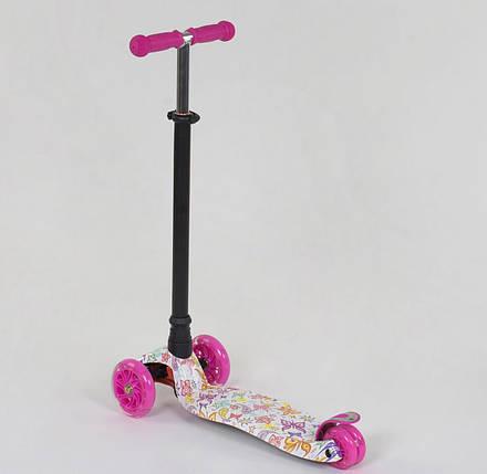 779-1336 Самокат Best Scooter MAXI Бабочки для девочки, фото 2
