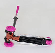 779-1336 Самокат Best Scooter MAXI Бабочки для девочки, фото 3