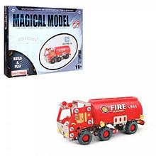 816B-135 Конструктор мет. Пожарная машина, 154 дет. кор. 30-24-4 см.