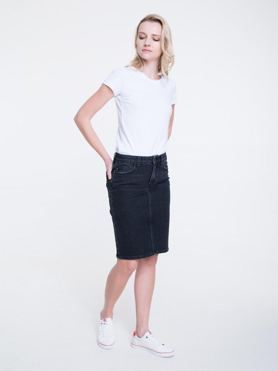Юбка джинсовая женская BS HAWEI SKIRT 998  BLACK DNM
