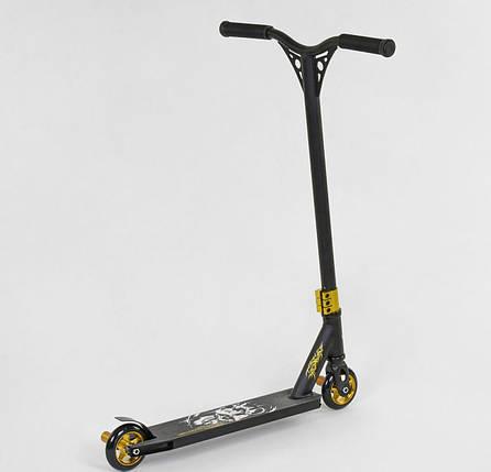 85528 Самокат трюковый Best Scooter HIC-система, ПЕГИ, алюминиевый диск и дека, колёса PU, d=10см для мальчика, фото 2