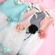 2024 Детское нарядное платье с фатином для девочки размер 5,6,7 лет