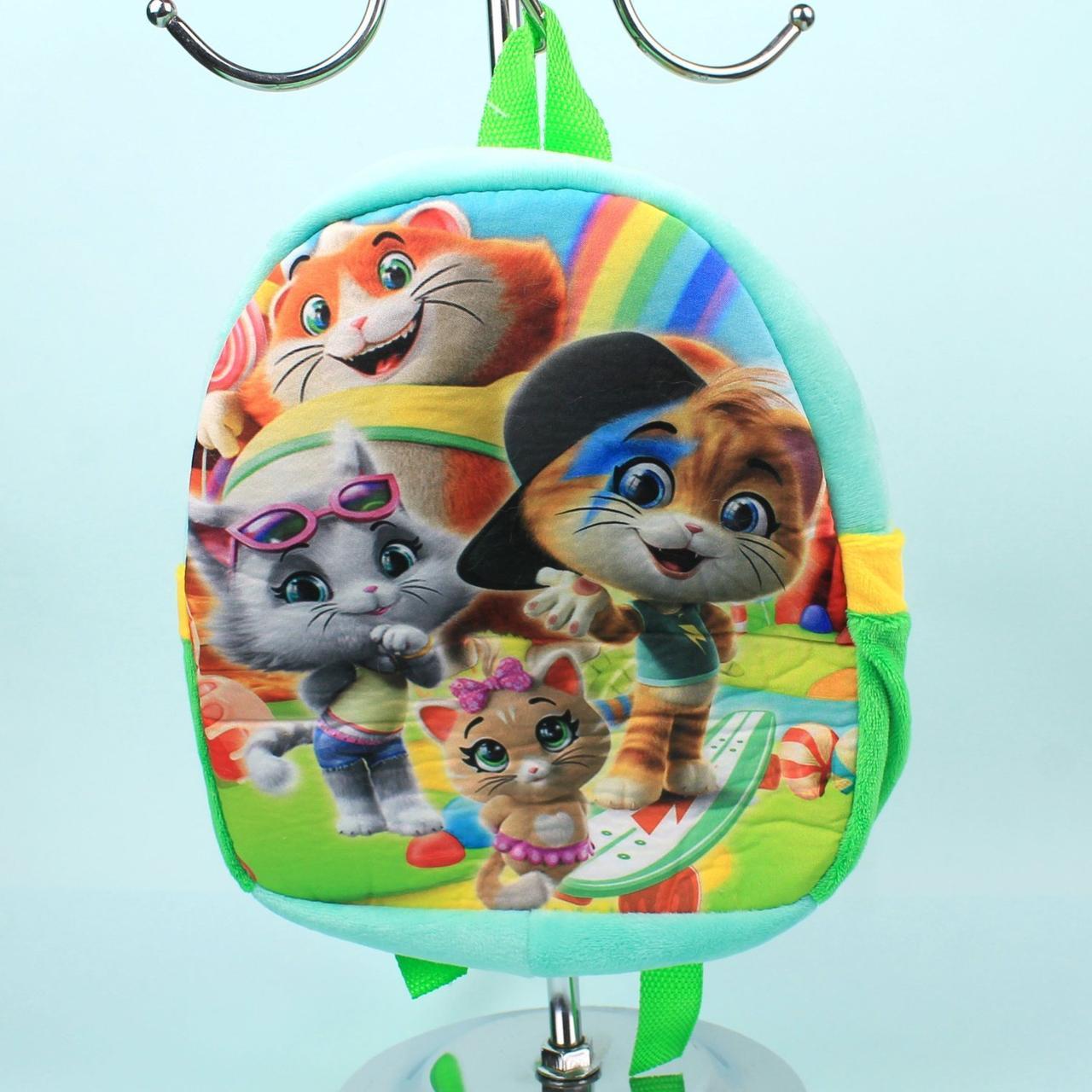 00200-28 Детский Плюшевый рюкзак для девочки Котята тм Копиця
