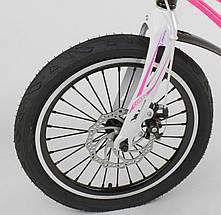 """MG-18 W 814 Велосипед 18"""" дюймов 2-х колёсный  """"CORSO"""" РОЗОВЫЙ, Магниевая рама, Алюминевые двойные диски с усииленной спицей, Дисковые тормоза, фото 2"""