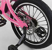 """MG-18 W 814 Велосипед 18"""" дюймов 2-х колёсный  """"CORSO"""" РОЗОВЫЙ, Магниевая рама, Алюминевые двойные диски с усииленной спицей, Дисковые тормоза, фото 3"""