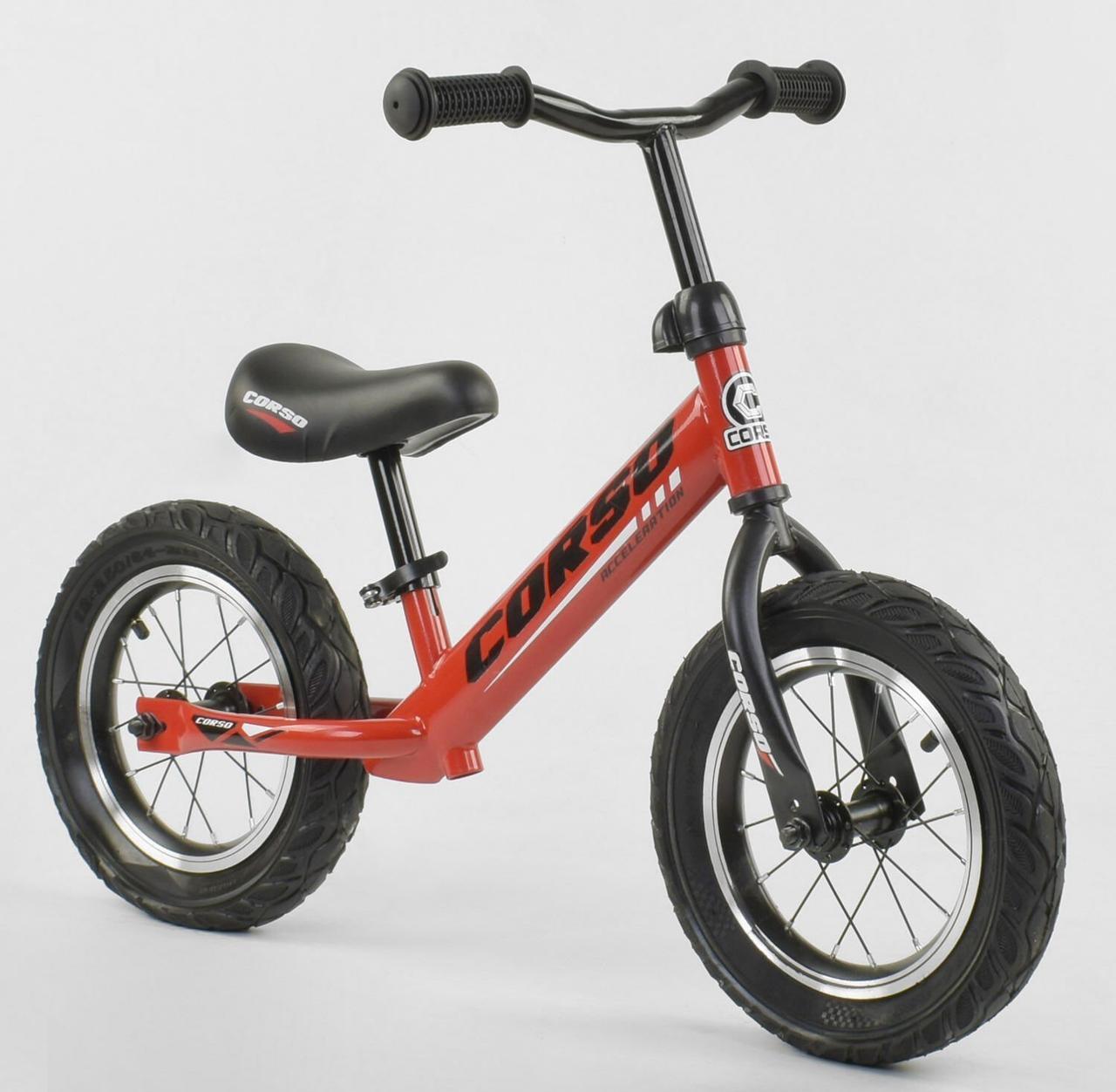 """71860 Велобег """"CORSO"""" стальная рама, колесо 12"""" надувные колёса"""