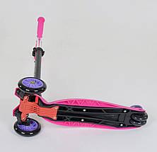 24437 Самокат Best Scooter MAXI Розовый, фото 3