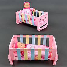 018-1-2 Пупс с кроваткой для девочек