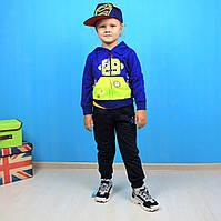 2907 Спортивный костюм Робот для мальчика трехнитка Setty Koop размер 1,2,4,5 лет
