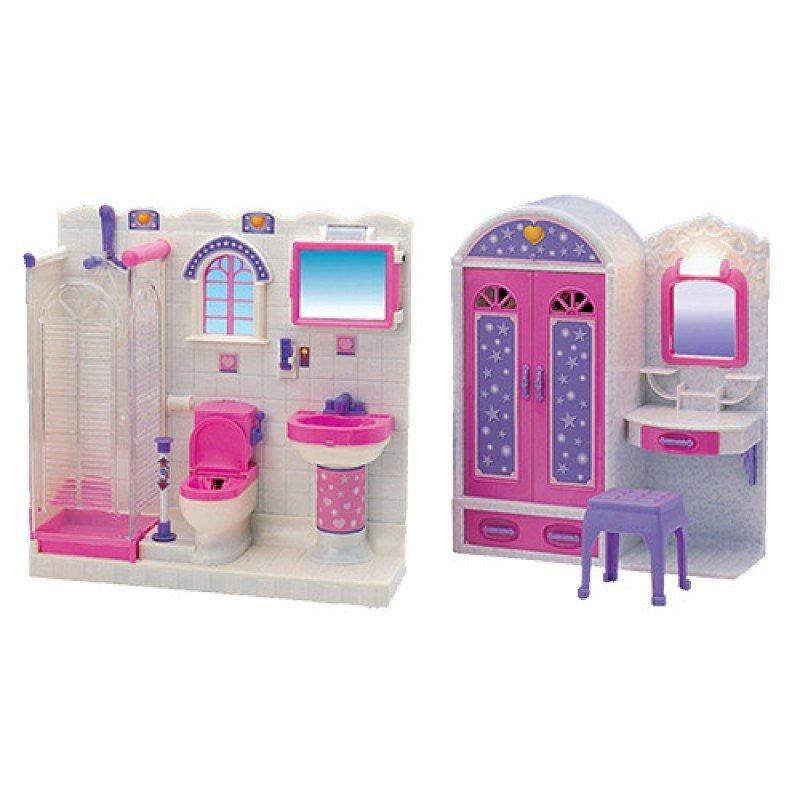 2009-11 Мебель шкаф-трюмо, душевая кабина, унитаз, умывальник, свет, на бат, в кор-ке, 55,5-32,5-10см