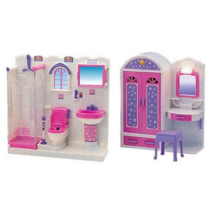 2009-11 Мебель шкаф-трюмо, душевая кабина, унитаз, умывальник, свет, на бат, в кор-ке, 55,5-32,5-10см, фото 2