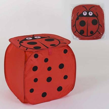 36584 Корзина для игрушек Божья коровка 45х46см, в кульке, фото 2