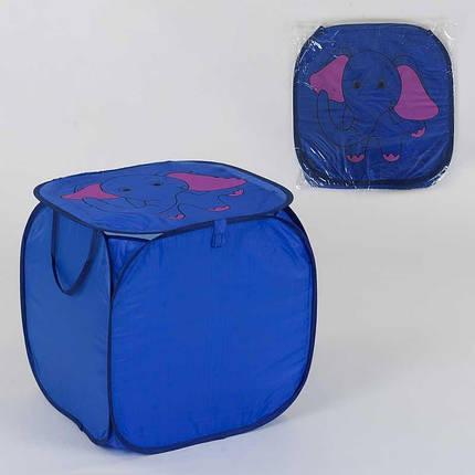 36586 Корзина для игрушек Слоник 45х46см, в кульке, фото 2