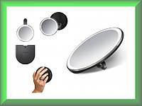 Зеркало сенсорное круглое 10 см на аккумуляторе Compact ST3030 Simplehuman с дорожным чехлом (увеличение 1х3)